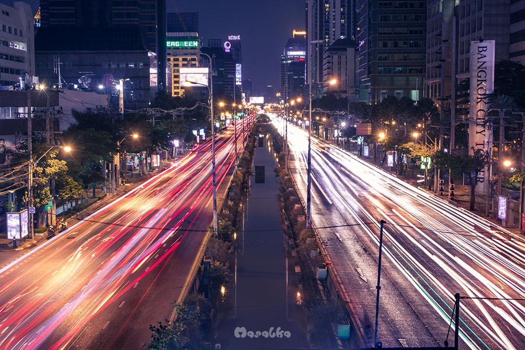 nocna fotografia w bangkoku