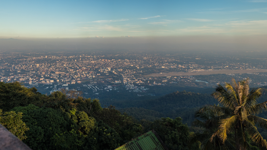 panorama z doi suthep na chiang mai